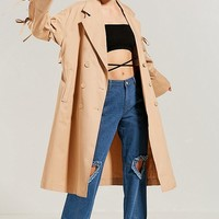 Eyeye Bow-Tie Trench Coat | Urban Outfitters