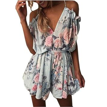 Drape Off Shoulder Romper