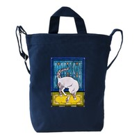 Lovely Tattooed White cat with Mouse Duck Bag