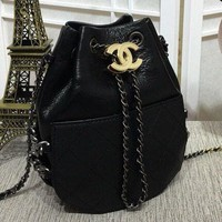 Chanel chic and exquisite denim tweed drawstring bag N-3A-XNRSSNB