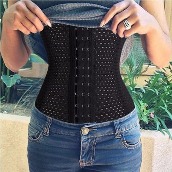Belly Band Corset Girdle Waist Trainer Cincher Body Shaper Elasticated Belt Sport Tummy Girdle Glass Ladies Underbust Control