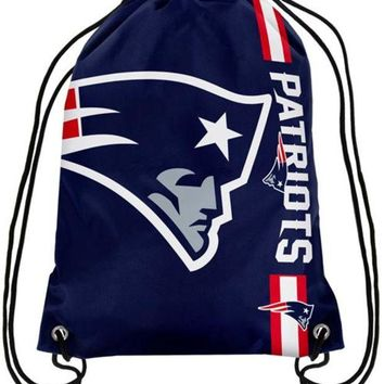 DCCKH6B New England Patriots Champion Drawstring Bags Men Backpack Digital Printing Pouch Customize Bags 35*45cm Sports Fan Products