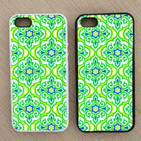 Geometric Damask Floral Pattern iPhone Case, iPhone 5 Case, iPhone 4S Case, iPhone 4 Case - SKU: 225