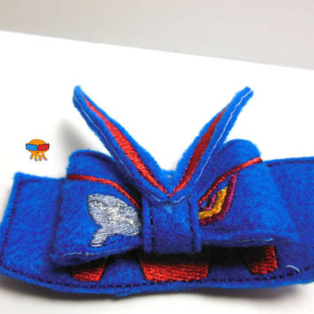S-enketsu Uniform Murder La Kill inspired 3D felt bow felt clippie physical item made to order