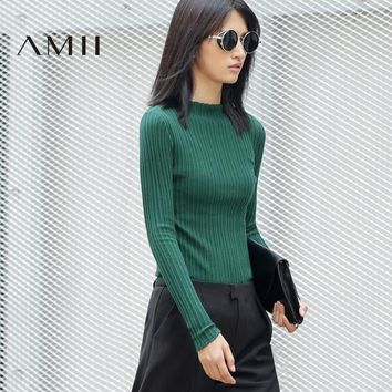 Women Sweater Solid Turtleneck Long Sleeve Pullovers Sweaters