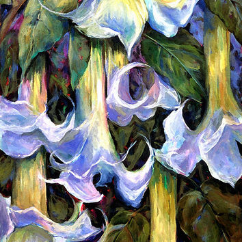 Angel's Trumpets - Floral Art By Betty Cummings