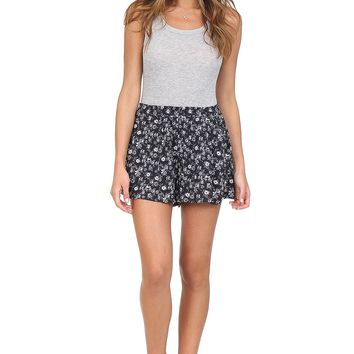 Navy Floral Shorts at Blush Boutique Miami - ShopBlush.com : Blush Boutique Miami – ShopBlush.com