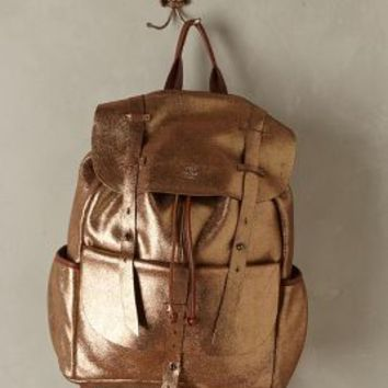 Mila Louise Shimmered Juliet Backpack Gold One Size Bags