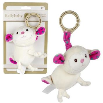 Kelly Baby 5-Inch White Plush Lamb with Bell Sound - CASE OF 48