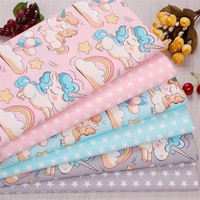 2018 New Arrival 40x50cm 2Pic/lot Cotton Fabric Tecidos Sewing Baby Bedding Tissu DIY Dolls Cloth Costura Patchwork Quilting M66