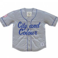 Baseball Jersey - Grey/Blue - Apparel - City and Colour Online Store