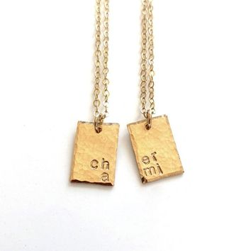 Cher Ami Best Friends or Sister Necklace Set