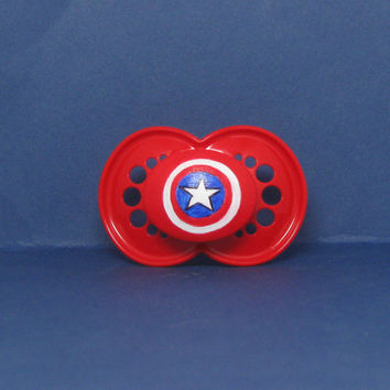 LIMITED EDITION Baby America on a Red MAM 6 month and older - Custom Hand Painted Pacifier