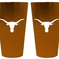 Texas Longhorns Lusterware Pint Glass - Set of 2