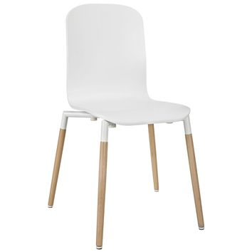 Stack Dining Wood Side Chair White EEI-1054-WHI
