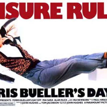 Ferris Bueller Leisure Rules Movie Poster 11x17