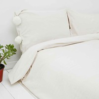Pom-Pom Pillow Set in Ivory - Urban Outfitters