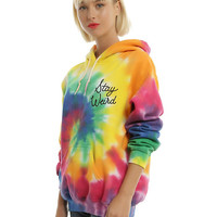 Tie Dye Stay Weird Girls Hoodie