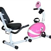 Pink Magnetic Recumbent Bike