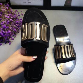 Fashion Online Dior Casual Fashion Women Sandal Slipper Shoes