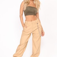 Chained To Your Love Joggers - Khaki