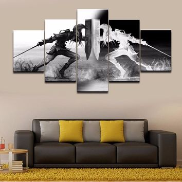 Wall Art Vikings Pictures Home Decor 5 Pieces Legend Of Zelda Canvas Painting Living Room HD Printed Cartoon Game Poster