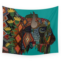 Society6 Bison Teal Wall Tapestry