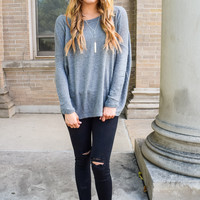 Simple And Soft Sweater Dark Gray