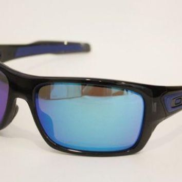 OAKLEY Turbine sunglasses 9263-05 Black Ink Sapphire Iridium Lens