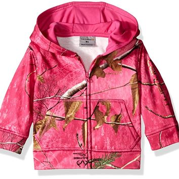 Baby Girls' Camo Zip Sweatshirt