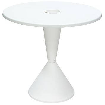 """Expo Indoor/Outdoor 31 """" Round Bistro Table in White Polypropylene (PP)"""