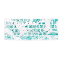 "Blue Turquoise Aqua Feather Theme Keyboard Cover Decal Skin for Apple Macbook Macbook Pro iMac Keyboard  13"" 15"" 17"""
