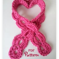 PDF CROCHET PATTERN, Simply Sweet Crochet Scarf Pattern, Keyhole Scarf, Instant Digital Download, Plenty of Photos, Simple Quick Pattern