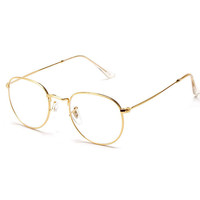 Fashion Gold Metal Frame Eyeglasses For Women Female Vintage Glasses With Clear Lens Optical Frames