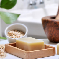 Oatmeal & Shea Butter All Natural Homemade Vegan Soap with Organic Plant Oils