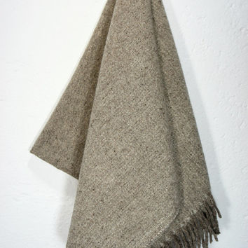 Wool Blanket 'Carbon' by mexchic on Etsy