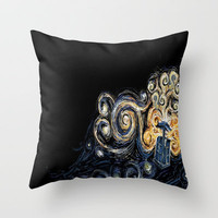 Doctor Who Van Gough Throw Pillow by Elyse Notarianni | Society6