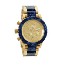 Nixon Men's 42-20 Gold and Royal Granite Chronograph Watch | Overstock.com