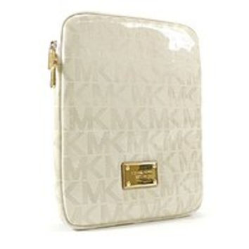 Michael Kors Holiday 34H2MELL3U-WHT ZipTop Tablet Case for iPad - Vanilla