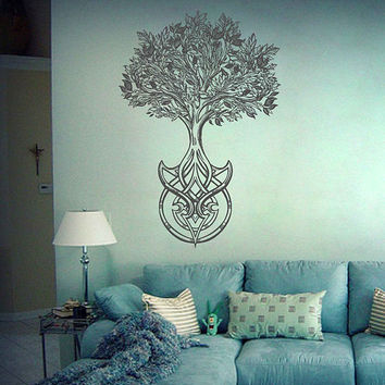 tree of Life wall decals Tree Decor Celtic wall decals for Living Room for Yoga Studio Decor kik3331