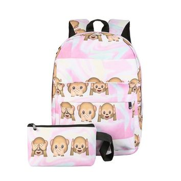 Monkeys! Backpack and Pencil/Makeup Bag