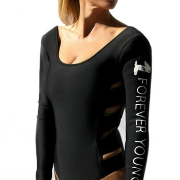 "Hollywood Fashion Wetsuit w/ ""Forever Young"" Print"