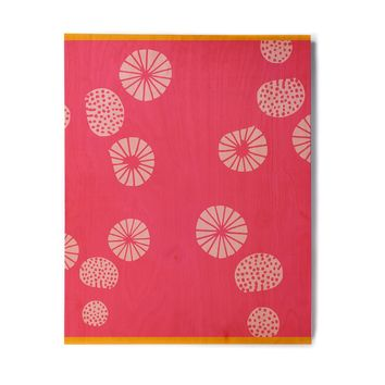 "bruxamagica ""Dandelion Pink Pink"" Pink Pattern Polkadot Digital Illustration Birchwood Wall Art"