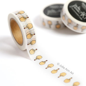Coworker Gift - Middle Finger Washi Tape - Washi Tape Mature
