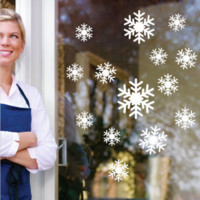 Snowflakes Wall/Window Sticker Vinyl Christmas Decals Removable Decor
