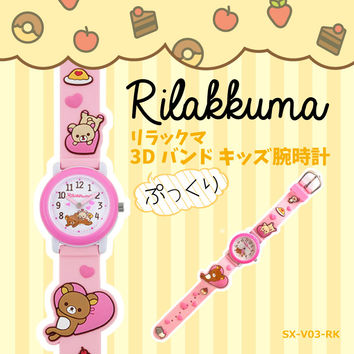 Child boy kids watch Rilakkuma character 3D ピンクハートコリラックマ SX-V03-RK of the watch woman for the リラックマ child
