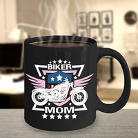 Biker Mom Coffee Mug 11oz Black Ceramic Cup, Mothers Day Gift Idea, Mother's Day Gift, Motorcycle Riders, Biker Mother, Motorbike Mom