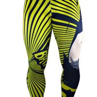 S2 Activewear - Black and Yellow Batman Men's Compression Leggings