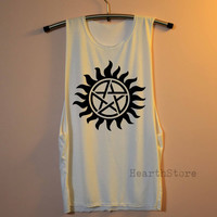 Supernatural Tattoo Shirt Muscle Tee Muscle Tank Top TShirt Unisex - size S M L