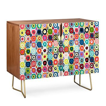 Sharon Turner hex diamond white Credenza